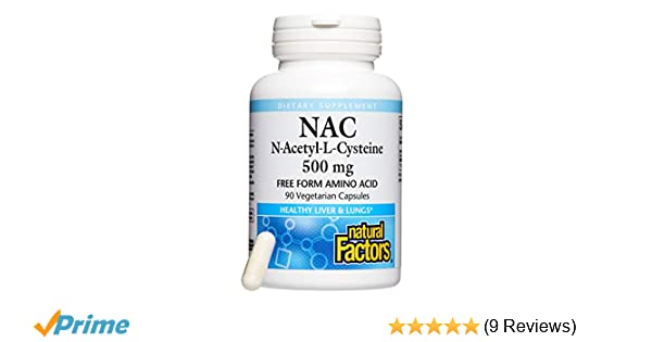 Amazon.com: Natural Factors, N-Acetyl-L-Cysteine 500 mg, Antioxidant Support to Defend Against Polluted Environments, 90 Capsules (90 Servings): Health ...