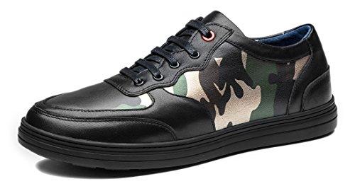 Antidérapante En Véritable Basses Noir Camouflage Hommes Main Design Chaussures Lacets Robe Automne Cuir Vache Opp gFWqTwFn