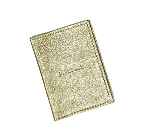 Gold Leather Passport Cover/Women Gifts Ideas