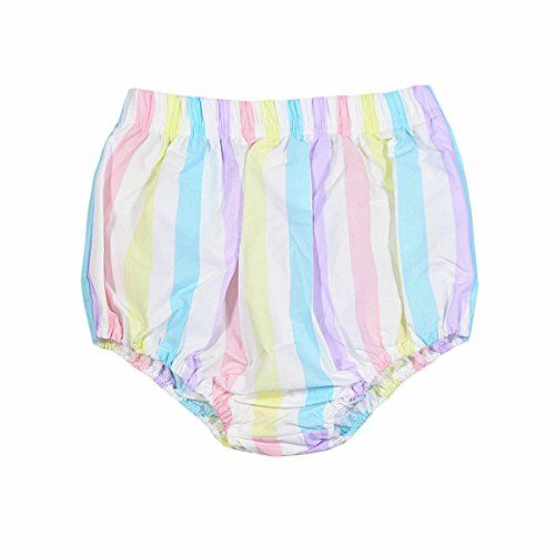 Baby Girl Bloomers Pantie 3m-24m Organic Diaper Cover (18-24 Months, Rainbow)