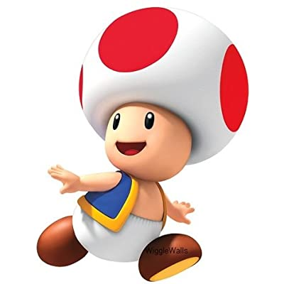 3 Inch Red Toad Super Mario Bros Brothers Removable Wall Decal Sticker Art Nintendo 64 SNES Home Kids Room Decor Decoration - 2 by 3 inches: Home & Kitchen