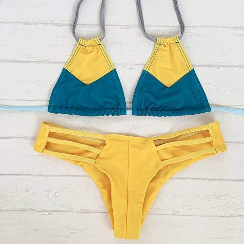Bikini Di In Alta Elastico L Da Dimensione Fuweiencore colore Costume Moda Con S Bagno Bt0IIq