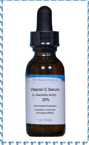 (2 oz) de vitamine C Sérum Peau 20% (acide L-ascorbique) - (comparer à Obagi, SkinCeuticals et Cellex c) la protection antioxydante intense, Correction Complection, et le contrôle Âge