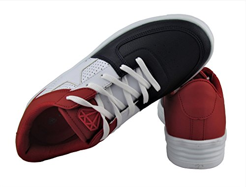 Cash Money Herren Schuhe - Freizeitschuhe - Low Sneaker - Star Kollektion - Verschiedene Farben Blau / Rot