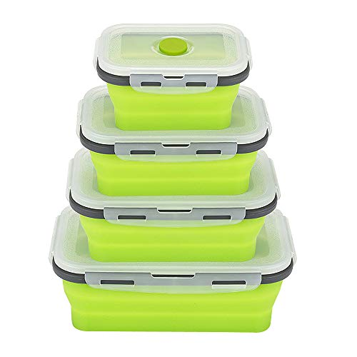 e Lunch Box, Collapsible Meal Kit Lunch Box, Food Storage Food Containers, BPA Free Leak Proof, Microwave, Dishwasher and Freezer Safe, Perfect for Girls & Boys, Kids & Adults ()