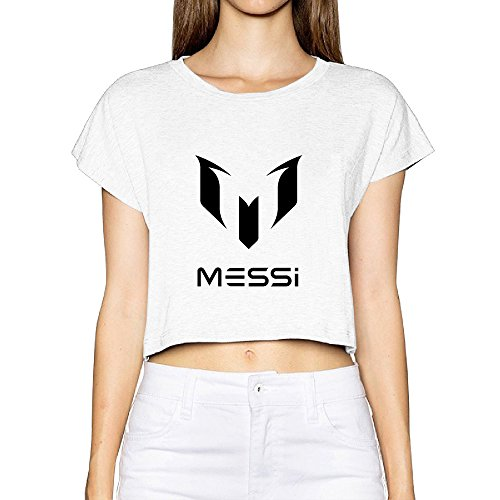 SAXON Women's Fashion Lionel Messi Logo Bare Midriff Sexy Sweatshirt Tops