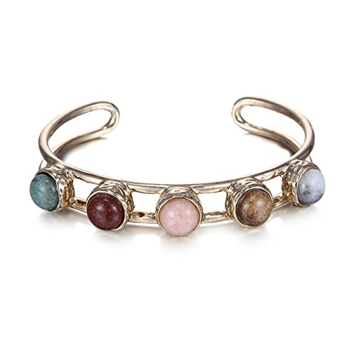 eManco Stone Bangle Plated Bracelet