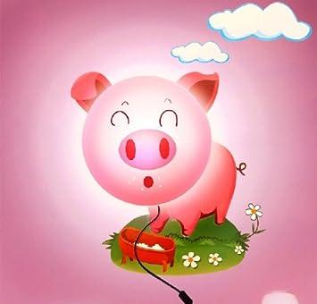 Cute Pig DIY Home Room Decor Wallpaper Wall Sticker Night Light Lamp Novelty Cartoon Atmosphere