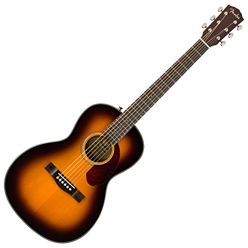Fender CP-140SE Acoustic-Electric Guitar with Case – Parlor Body Style – Sunburst Finish