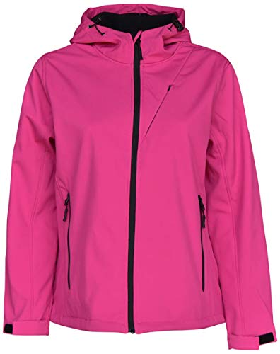 Pulse Womens Extended Plus Size Soft Shell Hooded Jacket (Solid Pink, 3X (24)) ()