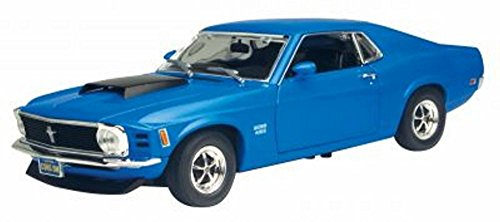 1970 Ford Mustang Boss 429, Blue - Showcasts 73303 - 1/24 Scale Diecast Model Car (Brand New, but NO BOX) -  Motor Max, 73303BU