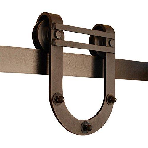 GOSO Sliding Barn Door Hardware Kit 6.6 ft (2 m), Horseshoe Design by GOSO