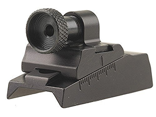 Williams WGRS-CVA Guide Receiver Peep Sight CVA Rifles with Octagon Barrel or Receiver Aluminum Black (Barrel Guide)