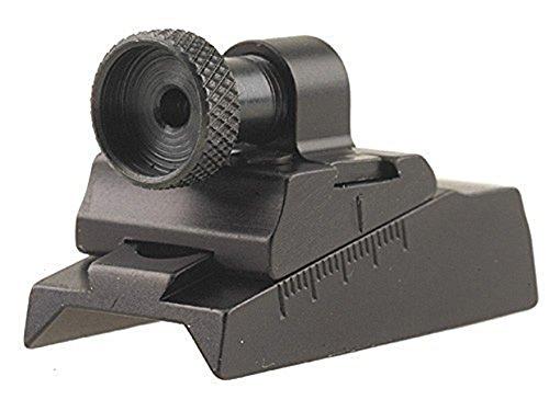 Williams WGRS-CVA Guide Receiver Peep Sight CVA Rifles with Octagon Barrel or Receiver Aluminum Black ()