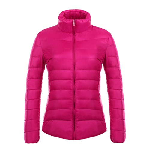 Mxssi Collar Rosa 90 Down Parka Slim Light Ultra Stand Down Long White Duck Sleeve Jacket Mujer Chaquetas rw1xatqEr