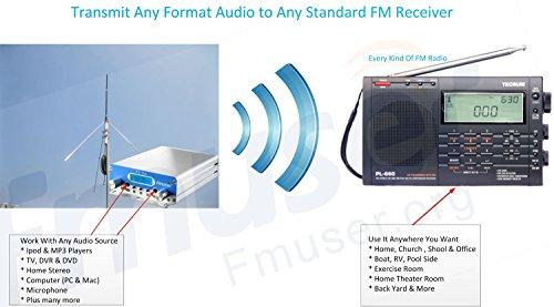 FMUSER FU-15A 1W/15W PLL FM Stereo Transmitter, Two Power Levels for Short or Long Range ...