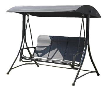 Suntime 3 Seater Havana Swing Hammock With Polyester Canopy   Black