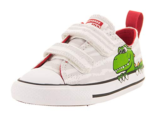 All Taylor White Star Trainers Dinoverse Chuck Grün Converse Baby 2v Weiss Canvas 5fTxEwO