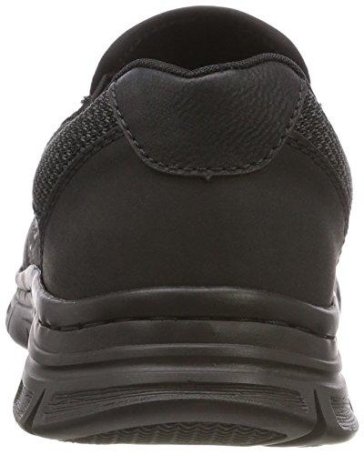 Rieker B4873, Baskets Enfiler Homme, Noir, 40 EU Noir (Schwarz/Grau-schwarz/Schwarz 04)