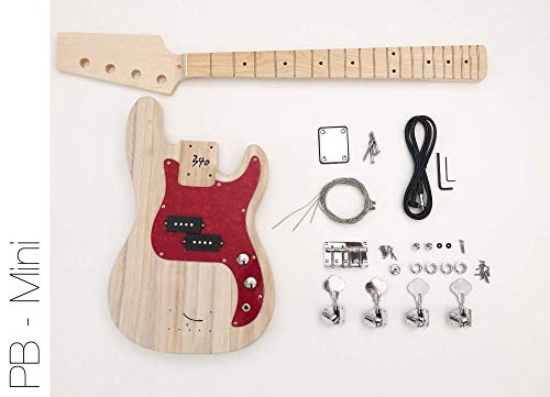 DIY Electric Bass Guitar Kit – Short Scale P Bass Build Your Own