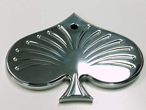 - Pirate Mfg Polished Aluminum Rear View Spade Mirror - Universal Custom Hot Rat Street Rod
