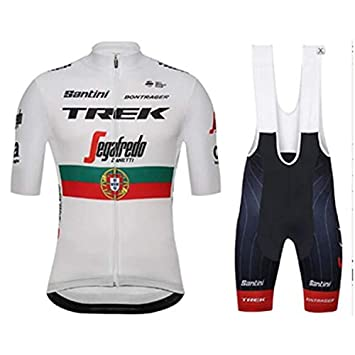 2d9a24634 Trek Cycling Jerseys - Breathable Short Sleeve Bike Jersey with 3D Gel Pad  Bib Shorts for Pro Bicycle Team Clothing  Amazon.co.uk  Sports   Outdoors
