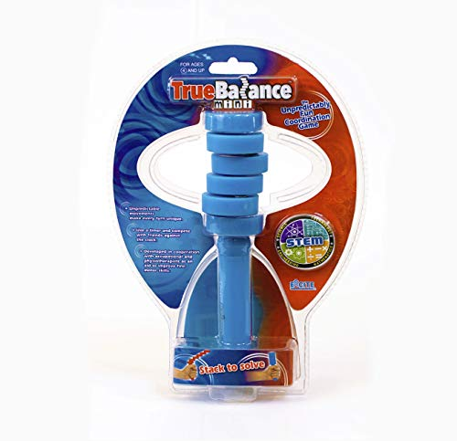 (TrueBalance Educational STEM Toy for Adults Boys and Girls(Mini Blue) | Educational Coordination Game That Promotes STEM Learning for Boys and Girls | Coordination Game that Improves Fine Motor Skills)