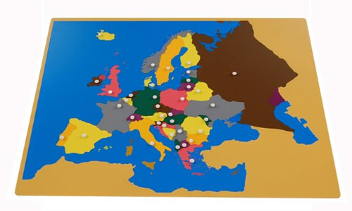 Amazon Montessori Europe Puzzle Map with Labeled and – Asia Map Puzzle