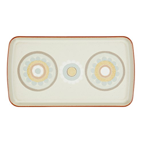 Denby Heritage Terrace Accent Rectangular Plate, Gray -