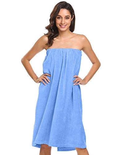 Ekouaer Velcro Towel Wrap For Womens Wrap Shower Bath Terry Towel Spa Clothes