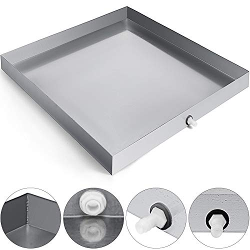 (VEVOR 32x32 Inch Washing with with Hole 304 Stainless Steel Compact Washer Machine Drip Pan)