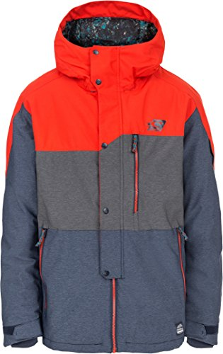 O'Neill Mens Snow Dialled Jacket Fiery Red Size X-Large