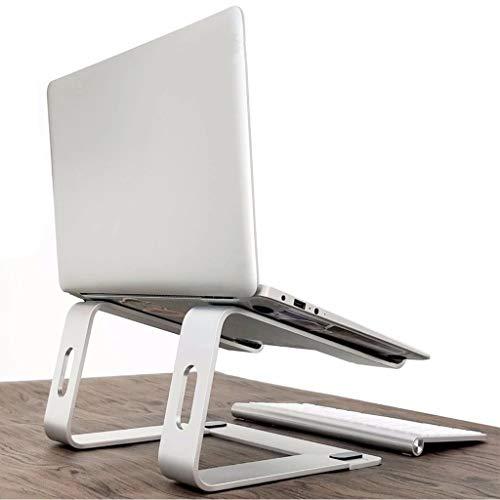 Gotian Aluminum Alloy Laptop Cooling Bracket Desktop Ventilation Bracket Vertical Bracket, Widely Compatible, Elegant and Versatile, Sliding Silicone Pad (White) -