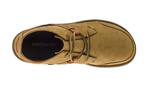 Xero Shoes Coalton - Chukka Style, Minimalist, Zero-Drop Low Leather Boot - Men Mesquite/Rust