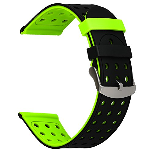 For Vivoactive HR Watchband, TRUMiRR Double Color Silicone Rubber Band Sports Strap Stainless Steel Clasp Wristband for Garmin Vivoactive HR Smart Watch by TRUMiRR