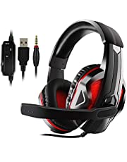 Xbox one Headset, PS4 Headset, JAMSWALL Gaming Headset Mic for Xbox one PS4 Controller, Skype PC Stereo Gamer Headphones with Microphone Computer Xbox one s Playstation 4