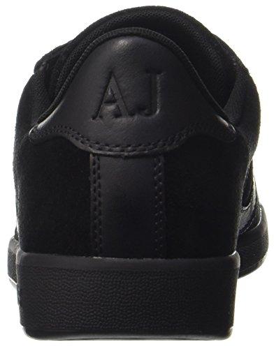 bas Armani Hommes 00020 De nero Coupe Noir Formateurs Jeans Baskets XYnzWASY