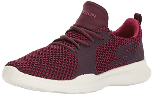 Skechers Performance Women's Go Run Mojo-Pep Sneaker, Burgundy, 11 M US
