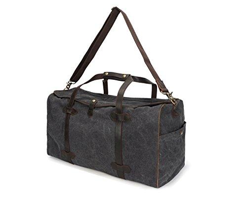 Brodé Blue color Portable Gray Multifonctionnel Vintage Hommes De Pour Size Sac L Capacité En Voyage Toile Grande 7qxpwwSafY