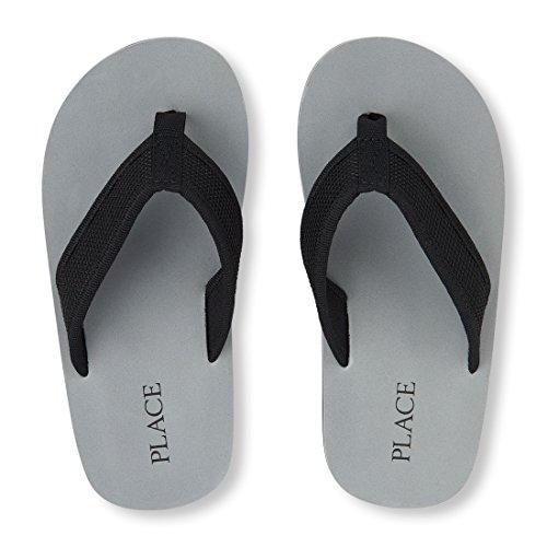 The Children's Place Boys' E BB Mesh Baja Flat Sandal, Black, Youth 3-4 Medium US Infant