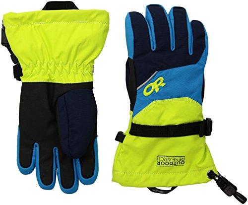Mittens Address Labels - Outdoor Research Kids' Adrenaline Gloves, Night/Lemongrass/Tahoe, Large