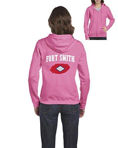 Fort Hood Zipper - Fort Smith Arkansas Flag Traveler`s Gift Womens Sweaters Zip up (3XLAP)