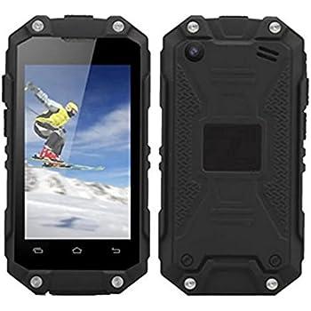 "Hipipooo J5+ Waterproof Dustproof Shakeproof Mini Rest-Pocket 2.45"" Smartphone With Android 5.1 3G Unlocked Mobile Phone MT6580M Quad-Core,Dual SIM Card Slot(Black)"