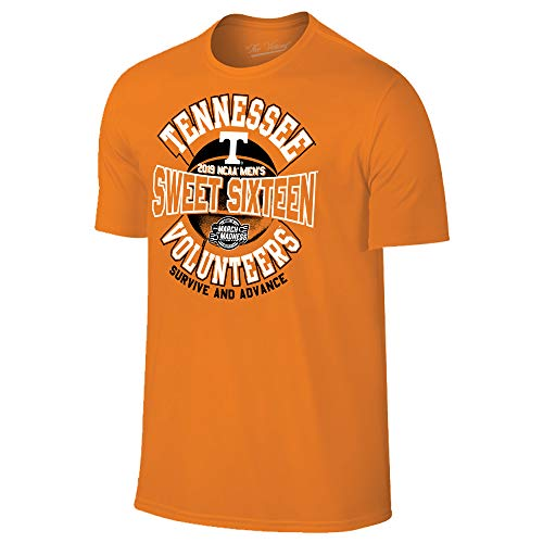 Tennessee Volunteers 2019 Sweet 16 Basketball March Madness T-Shirt - Small - Orange