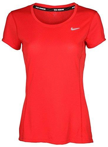 NIKE Running Women's Dri Fit Cap Sleeve Top Crimson Red 874358 696 (Womens Cap Sleeve Running Top)