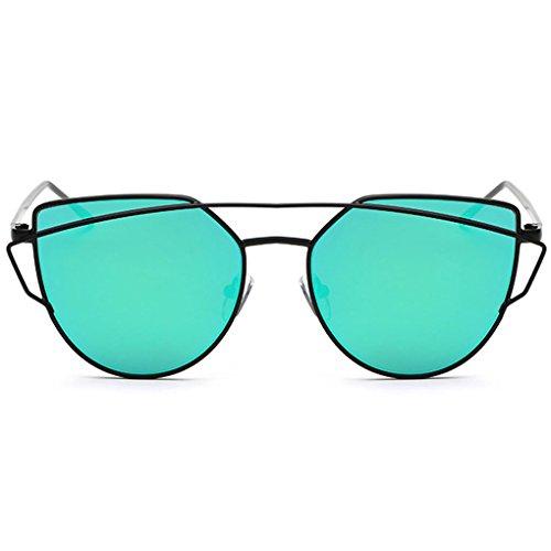 Lunettes de Métal QHGstore Femme Cadre Lunettes de UV400 Femme Mode vert Soleil Lunettes soleil protection xYtt50qwOr