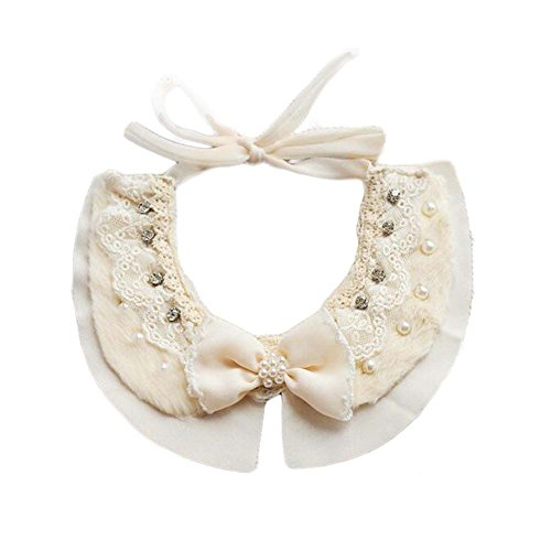 Panda Legends Handmade Lace Collars Retro Style Pet Necklace Neckerchief for Dog/Cat 8.2-11.2