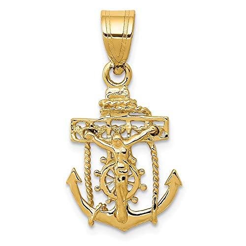 14K Yellow Gold Mariners Cross -