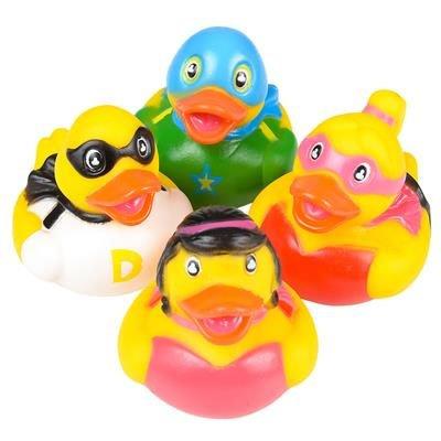 Rhode Island Novelty - Rubber Ducks - SUPER HERO DUCKIES (Set of 4 Styles) ()