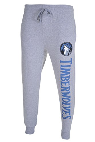 NBA Men's Minnesota Timberwolves Active Basic Team Logo French Terry Jogger Pants, X-Large, Heather Gray